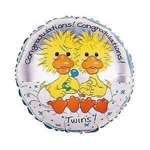 Yellow Ducks 18 Mylar Foil Baby Shower Party Balloon