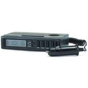 RoadPro 12 Volt or Battery Powered Super Loud Alarm Clock Automotive