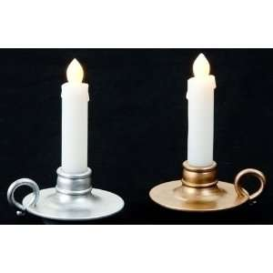 Battery Operated Silver & Gold Christmas Candle Lamps