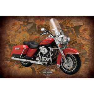 Motor Bike Posters Harley Davidson   Road King   35.7x23.8 inches