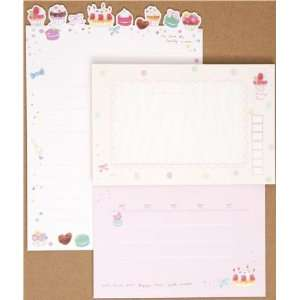 cute Letter Paper Set macaroons birthday cake Toys & Games