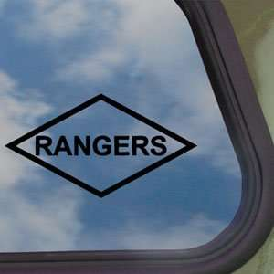 Rangers Lozenge Patch Style Black Decal Car Sticker: Home & Kitchen