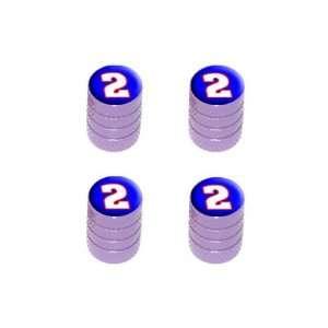 Number Two   Tire Rim Wheel Valve Stem Caps   Purple Automotive