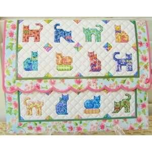 Carol Wilson Cat Quilt Blank Note Card Set 10 ct Portfolio