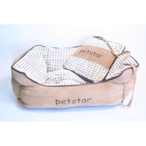 NEW MEDIUM PET BED FOR CAT OR DOG   HOUSE W PILLOW Pet
