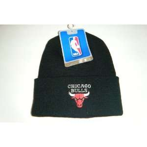 Chicago Bulls NEW Authentic Beanie toque knit hat: Sports