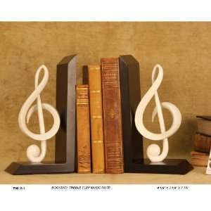 Treble Clef Music Note Bookends   Ships Immediately