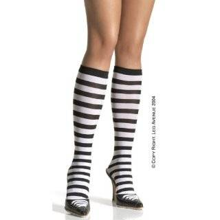 Cute Knee High School Girl Socks Zebra Striped   Dark Grey
