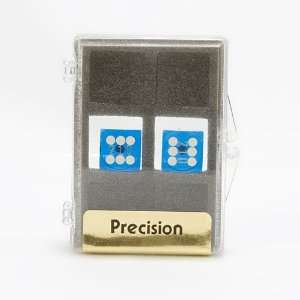 1 Pair, 14mm Precision Backgammon Dice, Dark Blue Toys & Games