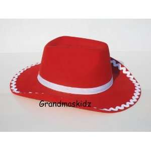 Story Girl Red Cowgirl Hat Costume Acessory Custom Made