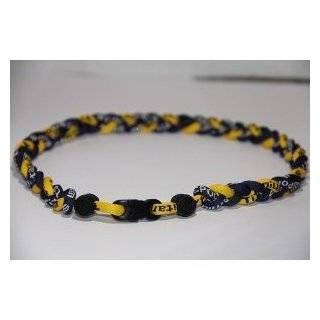 Phiten Custom Tornado Necklace   Royal Blue with Gold 20