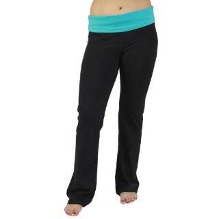 Fold Over Cotton Spandex Lounge Pants: Clothing
