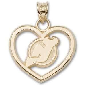 New Jersey Devils Nj Logo Heart Charm/Pendant Sports