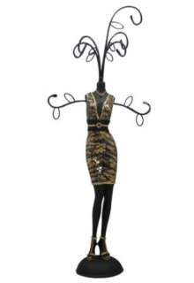 Animal Print Jewelry Stand Doll Dress Form Sequined