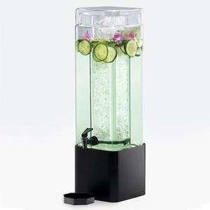 Glass Beverage Dispenser with Black Metal Base   7 x 7 x Home