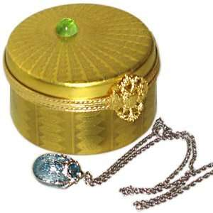 Faberge Egg Pendant in a Limoges Box Home & Kitchen