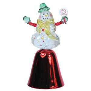 Snowman Bell Winter Figurines Handcrafted Statues
