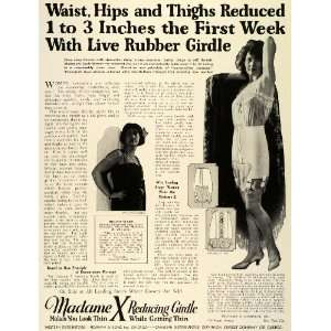 1924 Ad Madame X Reducing Rubber Girdle Celebrity Stage Film Actress