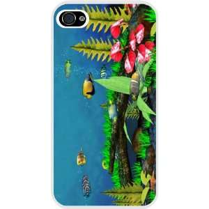 Fish in Tank Design White Hard Case Cover for Apple iPhone® 4