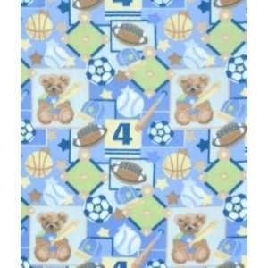 Blue All Boys Sports Fleece Fabric: Arts, Crafts & Sewing