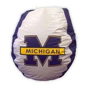 Bean Bag Michigan   Navy Chairs Bean Bags  Sports