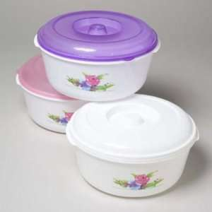 Flower Design Food Storage Container Case Pack 48 Kitchen & Dining