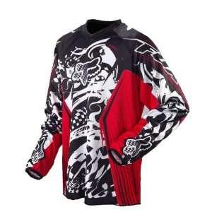 Fox HC Print Motocross Jersey   Mens Red/Black Extra
