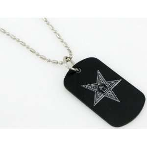 Masonic Mason East Star Ring Dog Tags/GI Tag 30 Chain
