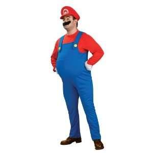 Deluxe Plus Size Super Mario Costume Toys & Games