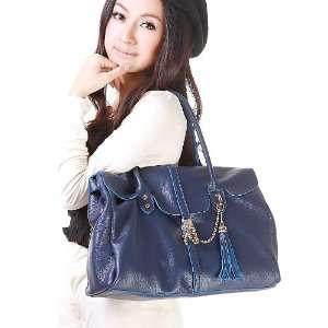 100% Real Genuine Leather Purse Shoulder Bag Handbag Tote Tassel Chain