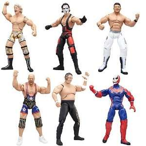 TNA Wrestling Deluxe Impact Action Figures Wave 1 Set