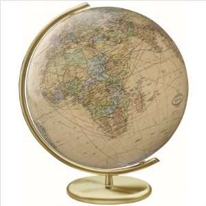Royal Glass Globe with Matte Gold Lacquered Metal Base