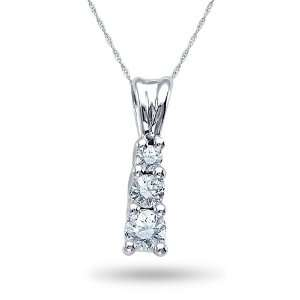 14K White Gold, Diamond Fashion Pendant, 1/4 ctw. Jewelry