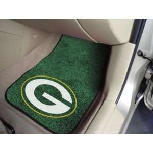 Green Bay Packers 2 PIECE CARPET CAR/TRUCK/AUTO FLOOR MATS
