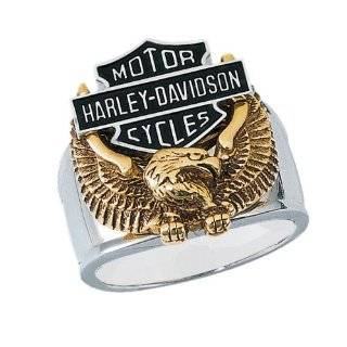 Sterling Silver Harley Davidson Mens Live To Ride Ring: Jewelry