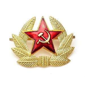 Soviet Red Army Star Hat Pin Badge USSR KOKARDA Everything Else