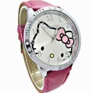 Pink Leather Hello Kitty Quartz Watch