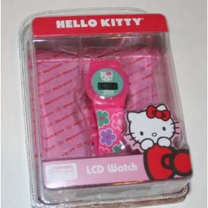 Hello Kitty LCD Fashion Flower Pink Watch Toys & Games