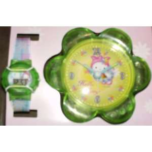 Hello Kitty Fairy Watch and Alarm Clock Gift Set in Clear