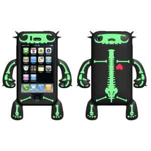 Black Bones Robotector Character Silicone Skin for the iPhone 3G/3Gs