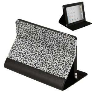 PU Leather Folio Case Stand for iPad 2   Black and White Electronics