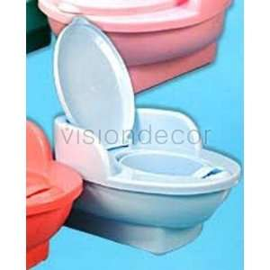 Plastic Potty Training Chair Toilet Seat w/ Back & Lid Home & Kitchen