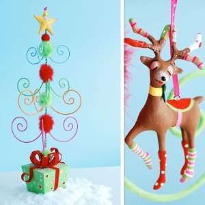 Glitterville Christmas, Polka Dot Socks SMALL DISPLAY TREE ( Item