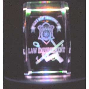 Laser Etched Crystal Law Enforcement Home & Kitchen