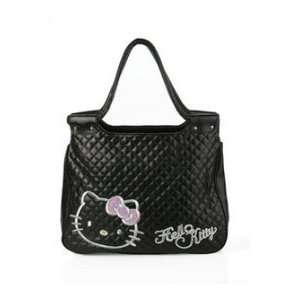 Kitty Black leather liked hangbag tote bag girl purse Toys & Games