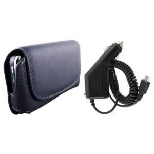 LG Xenon GR500 Leather Case + Rapid Car Charger Cell Phones