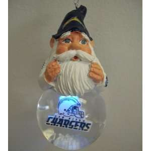 San Diego Chargers Light Up Snow Globe Gnome Ornament