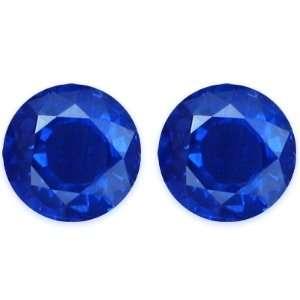 3.15 Carat Loose Blue Sapphires Round Cut Pair Jewelry