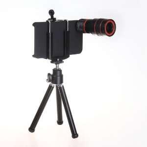 Lens Kit + Iphone 4 4S Holder+Tripod + Apple iPhone 4 4S 4G S Case