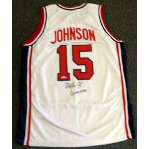 Magic Johnson Autographed/Hand Signed White Team USA Jersey